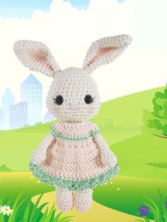 Mesmerizing Crochet an Amigurumi Rabbit Ideas. Lovely Crochet an Amigurumi Rabbit Ideas. Crochet Patterns Amigurumi, Amigurumi Doll, Crochet Dolls, Crochet Hats, Easter Crochet, Crochet Bunny, Crochet Animals, Sunburst Granny Square, Rabbit Crafts