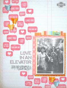 Kelly Purkey's So Cal layout. I love the way she used the stamps...cute :-)