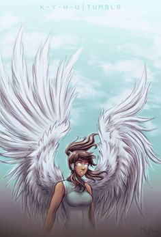 Korra angel by Iahfy/Kyhu Avatar, Korrasami, Legend Of Korra, Aang, The Last Airbender, Overwatch, Fandoms, Princess Zelda, Animation