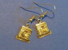 France Paris Triumphal Arch Earrings Arc De Triomphe Paris French Gift 24 Karat Gold Plate EG471 by NostalgicCharm on Etsy