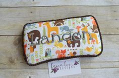 Woodland Animals Travel Wipe Case by LauraLeeDesigns108 on Etsy