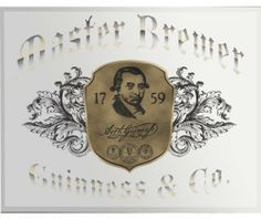 """Guinness Bar Mirror Master Brewer Pub Sign 24x18  This beautiful Guinness Mirror features beveled glass edges and a commercial quality mirror. It features the Master Brewer 1759 Logo and measures approximately 18"""" tall and 24"""" wide. Made the perfect addition to any bar or kitchen!  Ships today!  Price : $59.95 http://www.biddymurphy.com/Guinness-Mirror-Master-Brewer-Sign/dp/B0069EMEA0"""