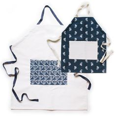Measuring Apron Set for Mama and Me - Bring your baking to life in the kitchen in this fun, vintage-inspired apron. Includes one adult and one child, the perfect pair for cooking together.