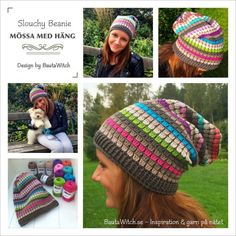 Add-Slouchy-Beanie-by-BautaWitch, free pattern and tutorial Crochet Adult Hat, Bonnet Crochet, Crochet Cap, Crochet Beanie, Love Crochet, Crochet Scarves, Diy Crochet, Crochet Clothes, Knitted Hats
