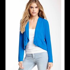 Stunning Blue blazer, small , New with tags ! Great for work or for play! Beautiful blue open blazer. Lays perfectly against the body. Brand-new with tags BB Dakota Jackets & Coats Blazers