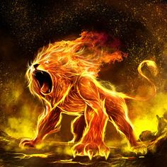 The Lion And The Virgin: Surrender or Flow. Letting Leo the Lion Go? Lion Live Wallpaper, Cat Wallpaper, Fire Lion, Flame Art, Mythical Creatures Art, Lion Pictures, Leo Lion, Lion Of Judah, Lion Art