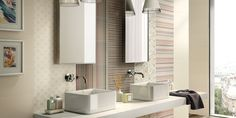 Tiles MASH-UP, salle de bain moderne ceramic double cuisson pour revêtement [AM…