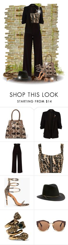 """""""Snake print! - Contest!"""" by asia-12 ❤ liked on Polyvore featuring WALL, Valentino, River Island, WearAll, Eugenia Kim, Gucci, Marni and Alexis Bittar"""