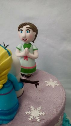 Anna Frozen Themed Cake Topper modelled by Coast Cakes Ltd