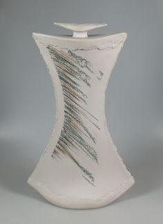 Heide van Veen Duch pottery flask...