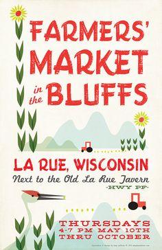 Wisconsin Farmers Market Poster by ShopAmySullivan on Etsy, $20.00