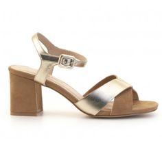 Sandalia tacón metalizada DI FONTANA Outlet, Shoes, Fashion, Pedicures, Routine, Shoes Sandals, Winter, Women, Moda