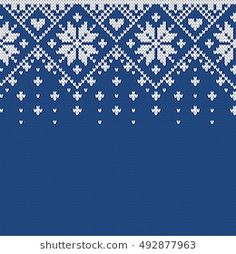 Seamless Knitting Pattern Stock Images in HD and millions of other royalty-free stock photos, illustrations, and vectors in the Shutterstock collection. Fair Isle Knitting Patterns, Knitting Charts, Knitting Stitches, Knitting Designs, Crochet Patterns, Motif Fair Isle, Fair Isle Pattern, Xmas Cross Stitch, Cross Stitch Patterns