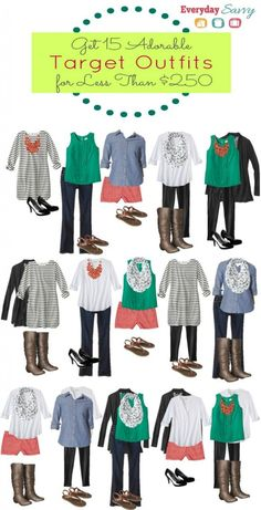 Mix and Match Target Outfits Fashion Board - If the few black pieces were a navy instead, this would be a nice capsule wardrobe for a Looks Chic, Looks Style, Style Me, Fall Outfits, Casual Outfits, Cute Outfits, Fashion Outfits, Fashion Hacks, Boho Fashion