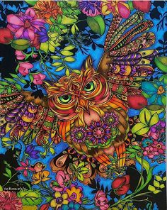 Owl Coloring Pages by @vddeguzman