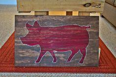 Pig String Art by PreppyPigDesigns on Etsy