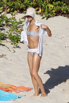 Olivia Palermo showed off her bikini body in St. Barts.