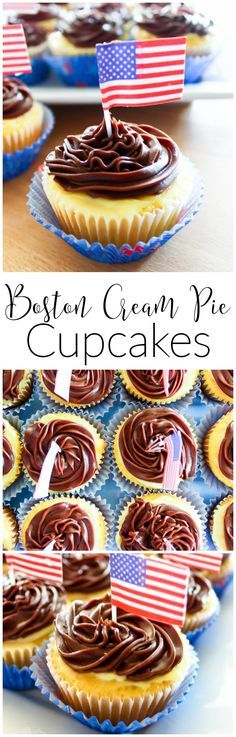 If you love the flavor of Boston cream anything, you will go crazy for these addicting Boston Cream Pie Cupcakes. Yellow cupcakes filled with vanilla pudding and topped with a creamy chocolate frosting, these Boston Cream Pie Cupcakes definitely won't disappoint.