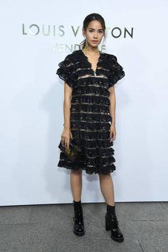 Urassaya Sperbund attends the Opening Of The Louis Vuitton Boutique as part of the Paris Fashion Week Womenswear Spring/Summer 2018 on October 2 2017...