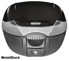 """Shad SH-33 motorcycle top case in metal black. Designed to attach to most flat luggage racks. Its dimensions are: 16.5"""" L x 16.9"""" W x 12.2"""" H  and has a 33 liter capacity. Your price is $134.95. With Free Shipping."""