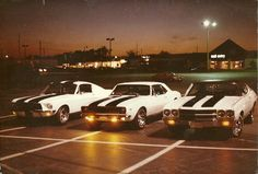 My dad and his buddies' cars when they were in high school - Imgur