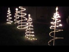 VIDEO of blinking Christmas Tree lights.  Outdoor light home decoration.