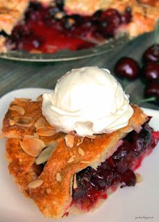 I think the secret to a good pie crust is practice. Which is okay with me because practice means more pie. Who doesn& want more pie? Easy Cake Recipes, Spicy Recipes, My Recipes, Chicken Recipes, Cooking Recipes, Simple Recipes, Healthy Recipes, Cherry Pie Cake Recipe, Mother Recipe