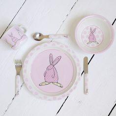 Rufus Rabbit Melamine Gift Set - Girl