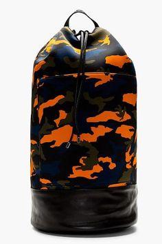 givenchy black neoprene camo backpack
