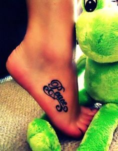 Lovely Foot Quote Tattoos for Girls - Best Foot Quote Tattoos for Girls