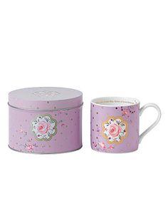 Royal Albert New Country Roses Rose Confetti Seasonal Mug in a Tin