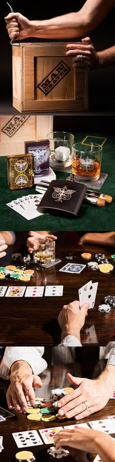 Whiskey and cards? This gift was designed for my man! | Man Crates