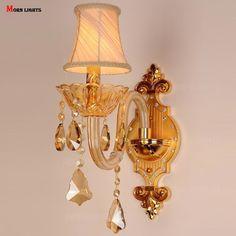 Top K9 cristal parede espelho de luz luz lâmpada cama de iluminação luzes do corredor moda moderna arandela de cristal K9(China (Mainland))