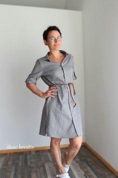 Blusenkleid Azora von Schnittmusterlounge Shirt Dress, Shirts, Dresses, Fashion, Sew Mama Sew, Shirt Collars, Knitting And Crocheting, Creative, Patterns