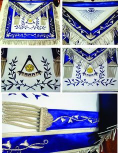 a MASONIC PAST MASTER APRON BLUE SILK BORDER SILVER EMBROIDERY Buy it now or get 10% off from our main store glovesngloves.com/shop
