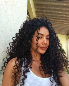 Curly Afro Hair, Curly Hair Styles, Long Curly Hair, Curly Girl, Medium Hair Styles, Natural Hair Styles, New Hair Look, Black Curls, Pelo Afro