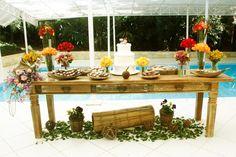 mesa de doces casamento rustico - Pesquisa Google