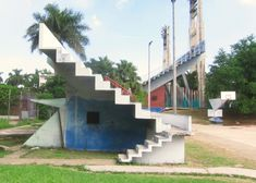STAIRS TO NOWHERE: Hmmm, these stairs in a Cuban play area look a bit…