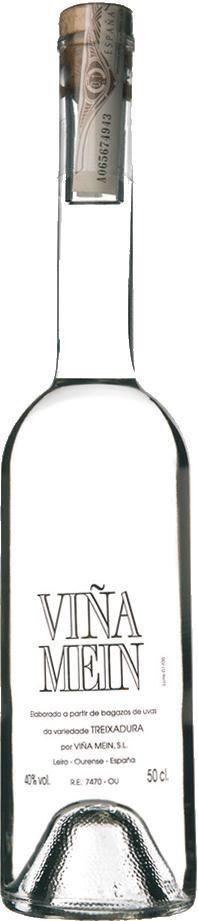 "Destilado de orujos de Treixadura Orujo español ""Orujo de Treixadura"" - Bodega Viña Mein, Galicia, España"