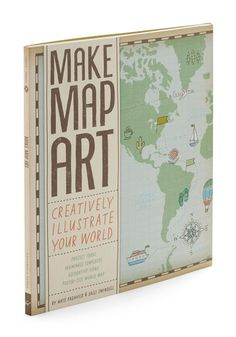 Make Map Art Kit. The path you take in life is uniquely yours, and now you can commemorate each journey you take with this DIY kit from Chronicle Books! #multiNaN