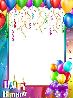 Happy Birthday Invitation Card Frame With Name Photo