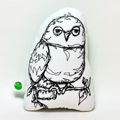 Owl Softie, $19, now featured on Fab. I really like the blk n wht of this....