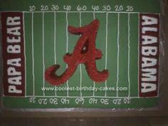 Homemade Alabama Football Birthday Cake