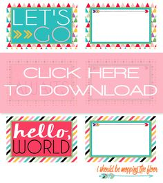 printable tags | With that in mind, I\'ve created a set of two ...