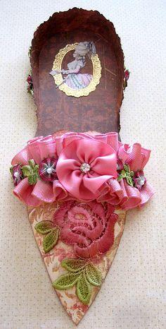 * Marie Antoinette Altered Paper Shoe