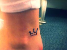 Crown tattoo, foot tattoo, small tattoo