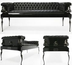 Autum Heretic Coffin Couches. Though they flirt with the macabre, they're undeniably stunning pieces.