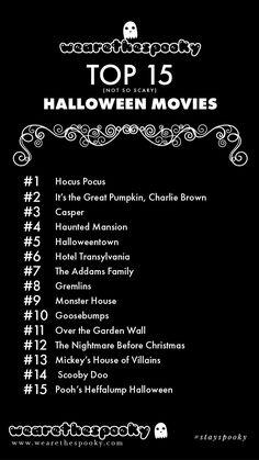 Wearethespooky's Not So Scary Halloween Movie List - :: we are the spooky :: Halloween Bucket List, Halloween Movies To Watch, Halloween Movie Night, Holiday Movie, Halloween Horror Movies, Family Halloween, Halloween Halloween, Netflix Movies To Watch, Movie To Watch List