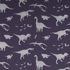 D'ya-think-e-saurus - Purple - Artisanal Wallpaper from The Wallpaper Collective