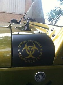 Jeep jk Wrangler Zombie Outbreak Response Team cowl cover wrap